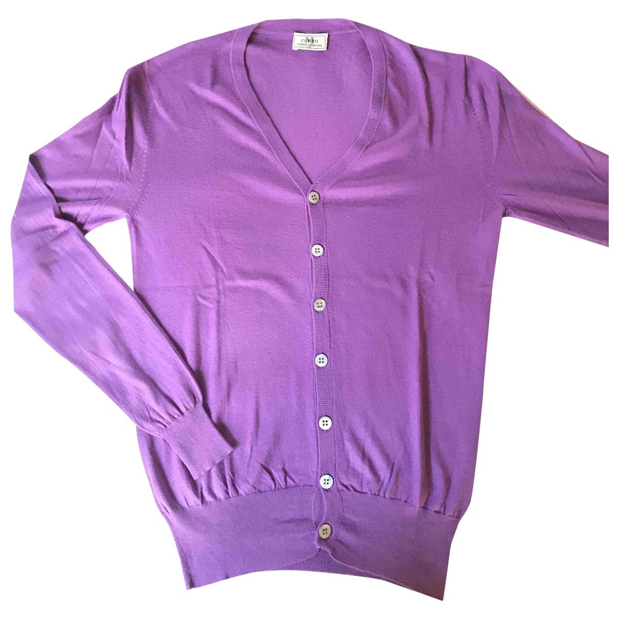 Non Signe / Unsigned \N Pullover.Westen.Sweatshirts  in  Lila Seide