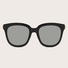 Men Metal Detail Acrylic Frame Sunglasses