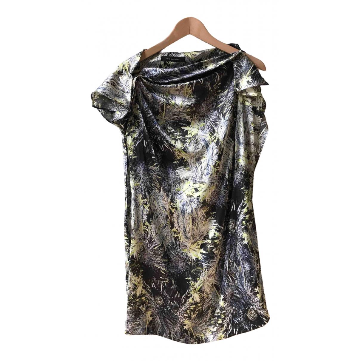 Luc Duchene - Robe   pour femme en soie - multicolore