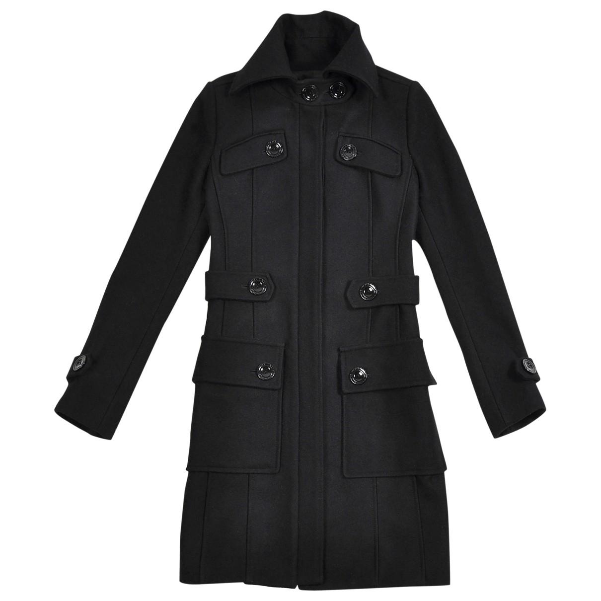 Patrizia Pepe \N Black Wool coat for Women 40 IT