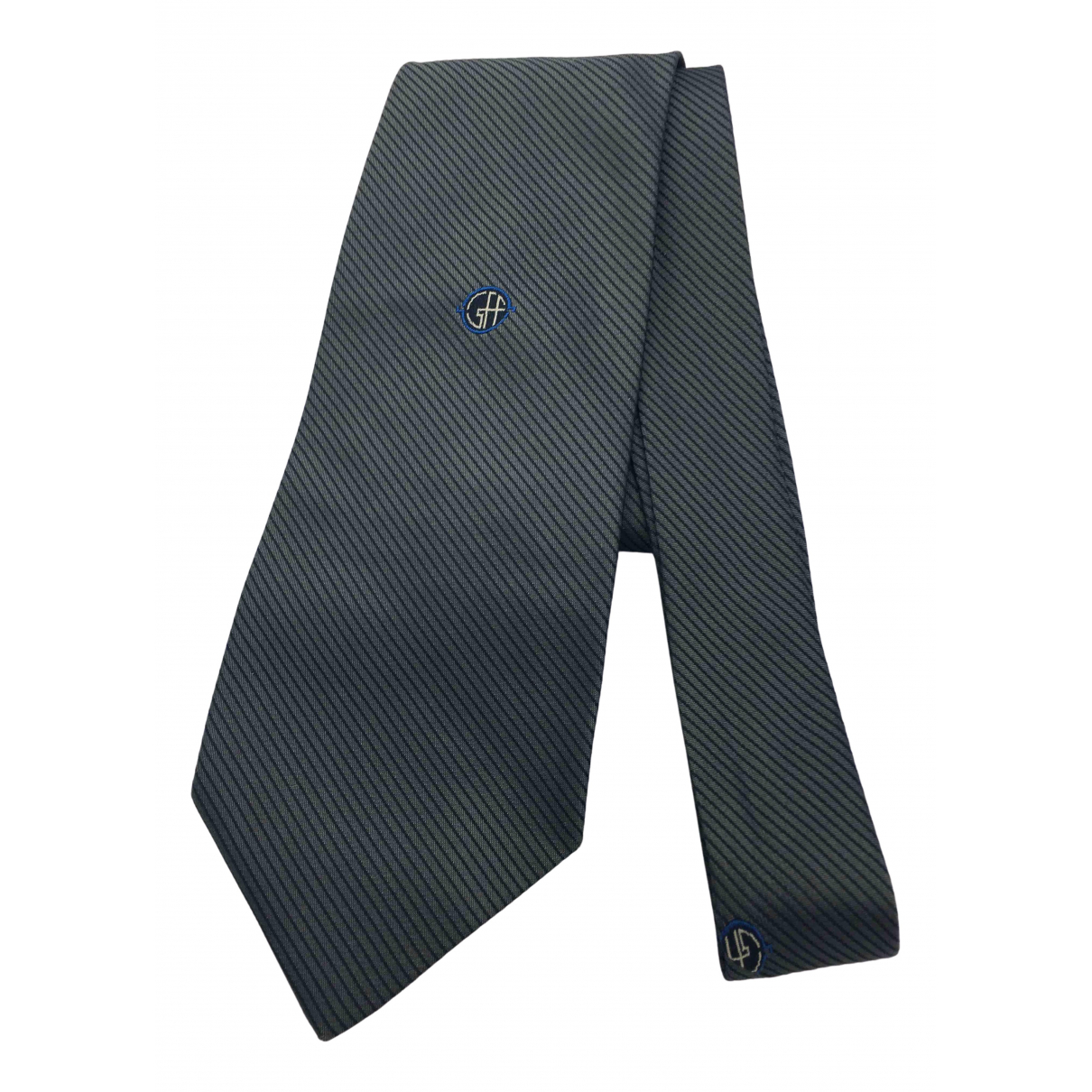 Gianfranco Ferre - Cravates   pour homme en soie - anthracite