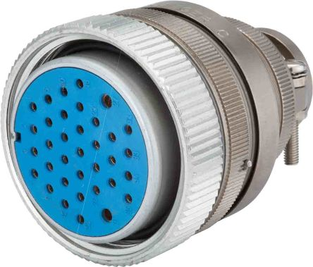 Jaeger , 5324 3 Way Cable Mount MIL Spec Circular Connector Plug, Pin Contacts,Shell Size 1, Screw Coupling