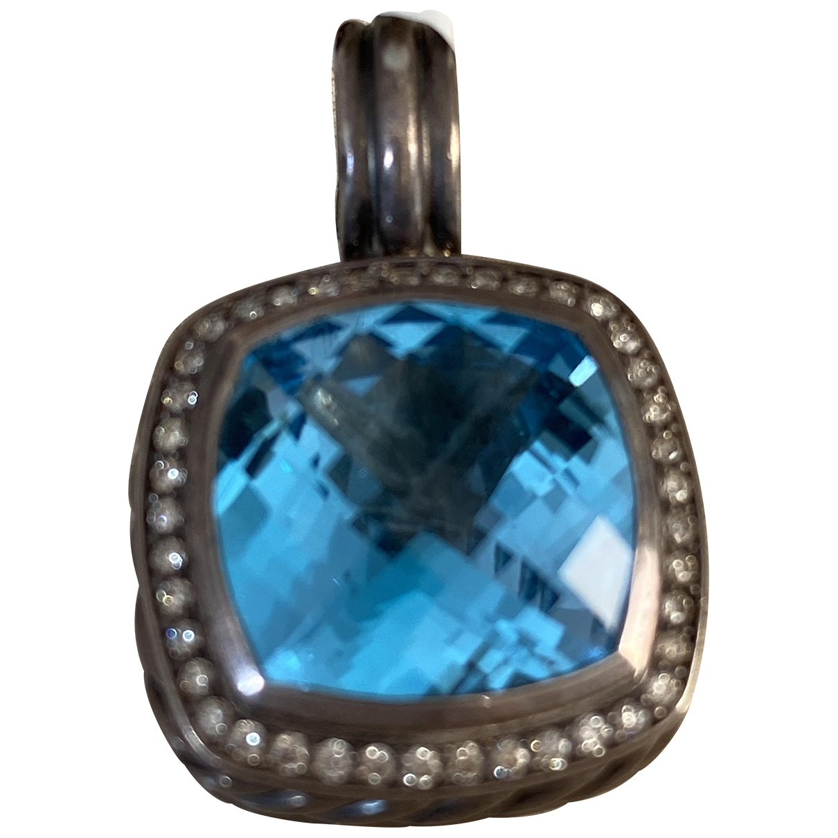 David Yurman \N Anhaenger in  Blau Silber