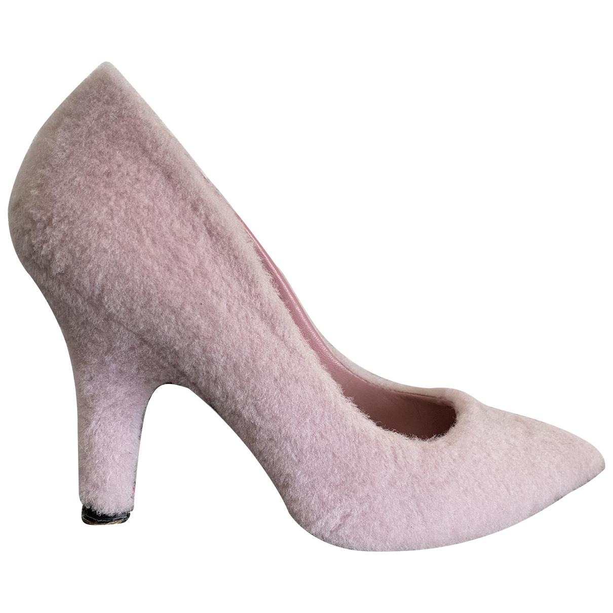 Amelie Pichard - Escarpins   pour femme en mouton - rose