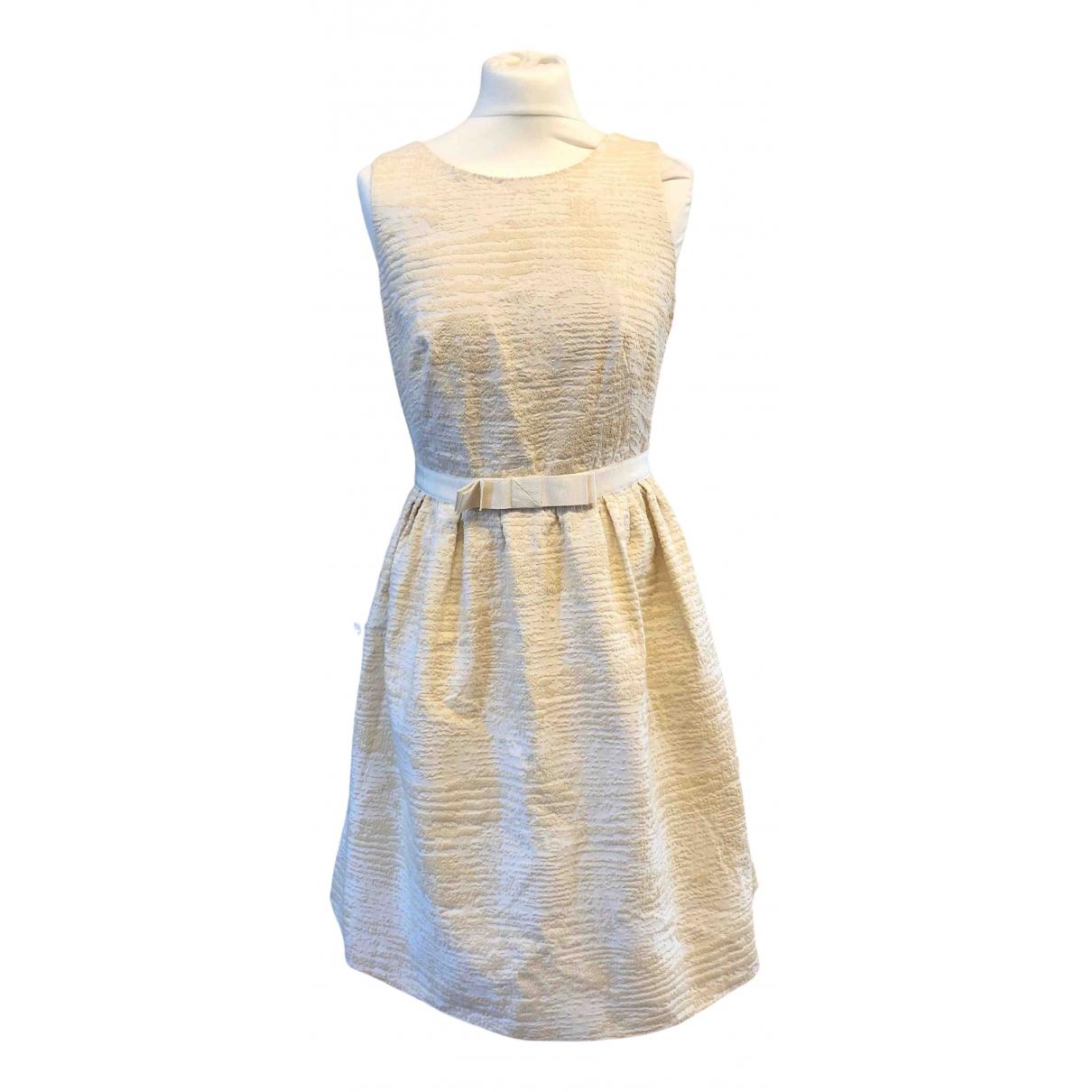 Paule Ka \N Kleid in  Weiss Baumwolle - Elasthan