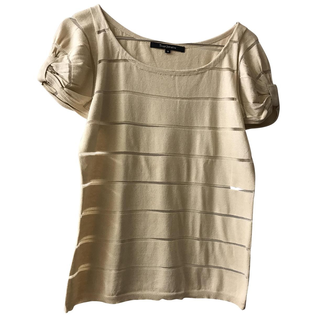 Tara Jarmon - Top   pour femme en coton - beige