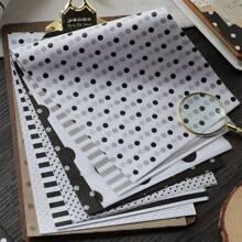 80 piezas papel material con patron de lunares