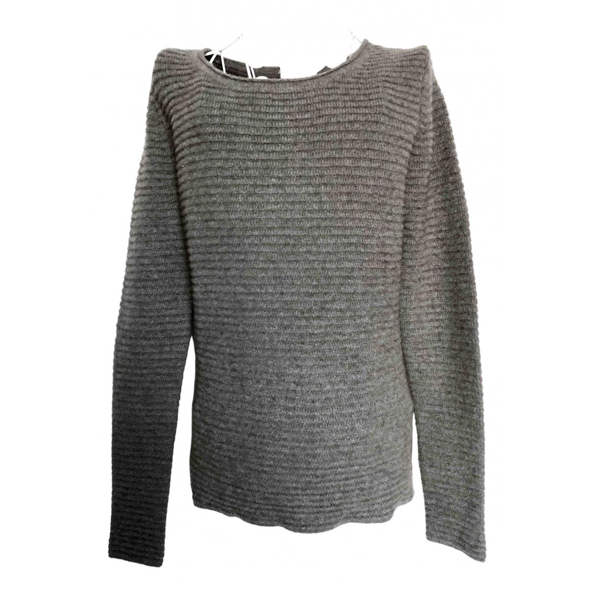 American Vintage \N Pullover in  Grau Wolle
