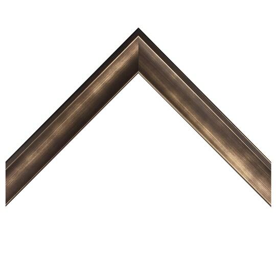 Gunmetal Foiled Shadow Box Custom Frame By Michaels® in Pewter   8 X 10   Wood