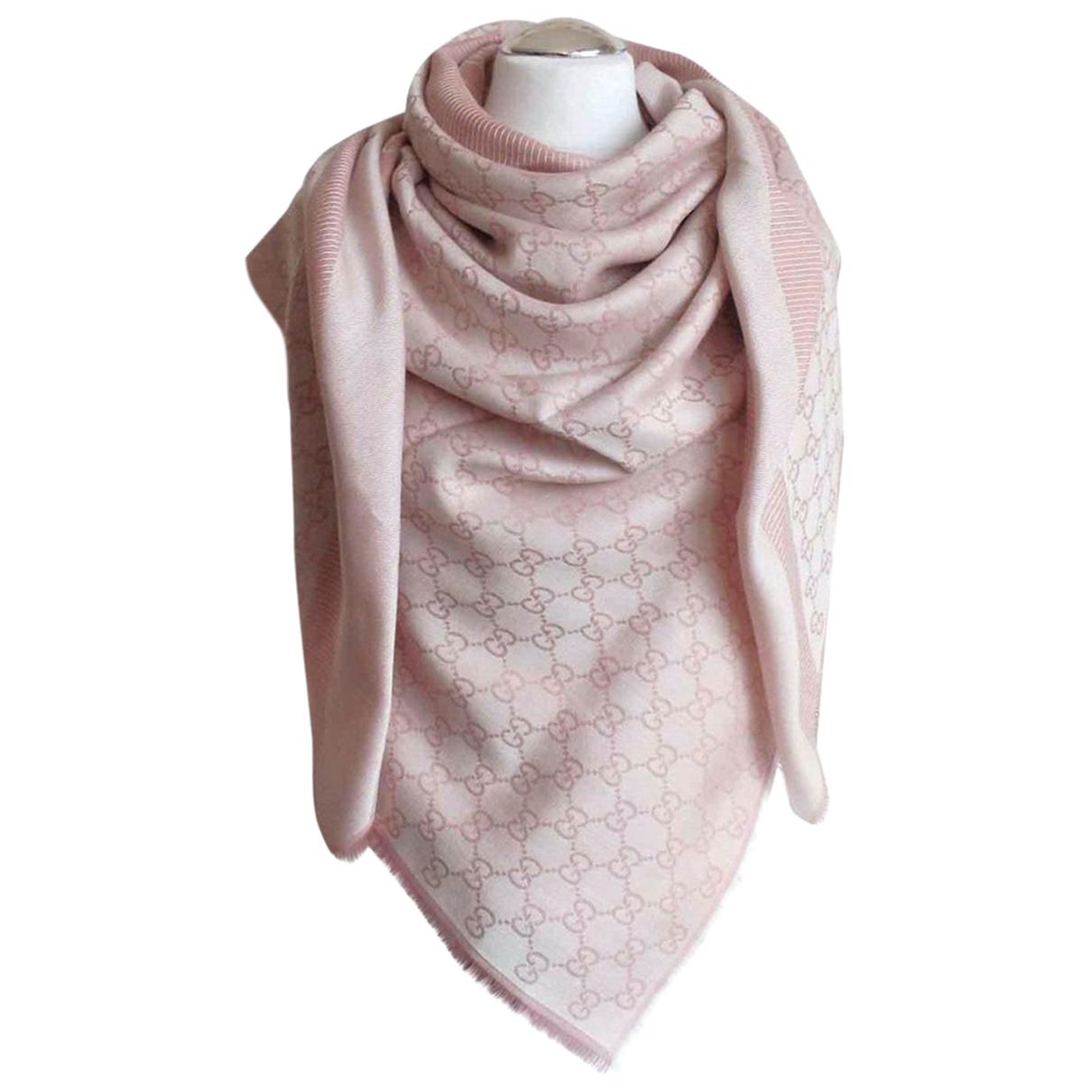 Gucci N Pink Wool scarf for Women N