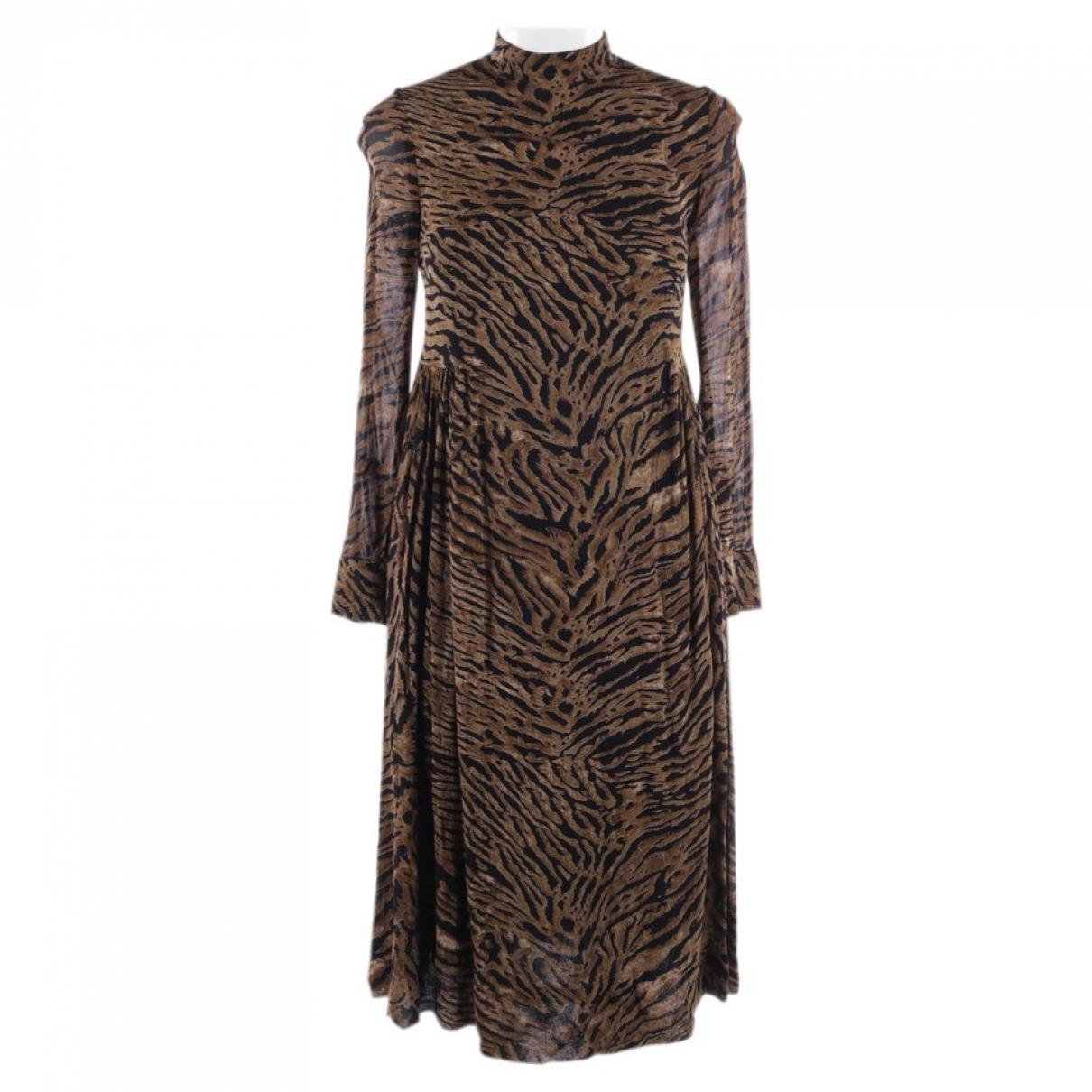 Ganni \N Kleid in  Beige Viskose