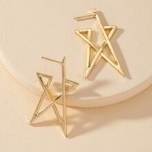 Metal Star Shaped Earrings