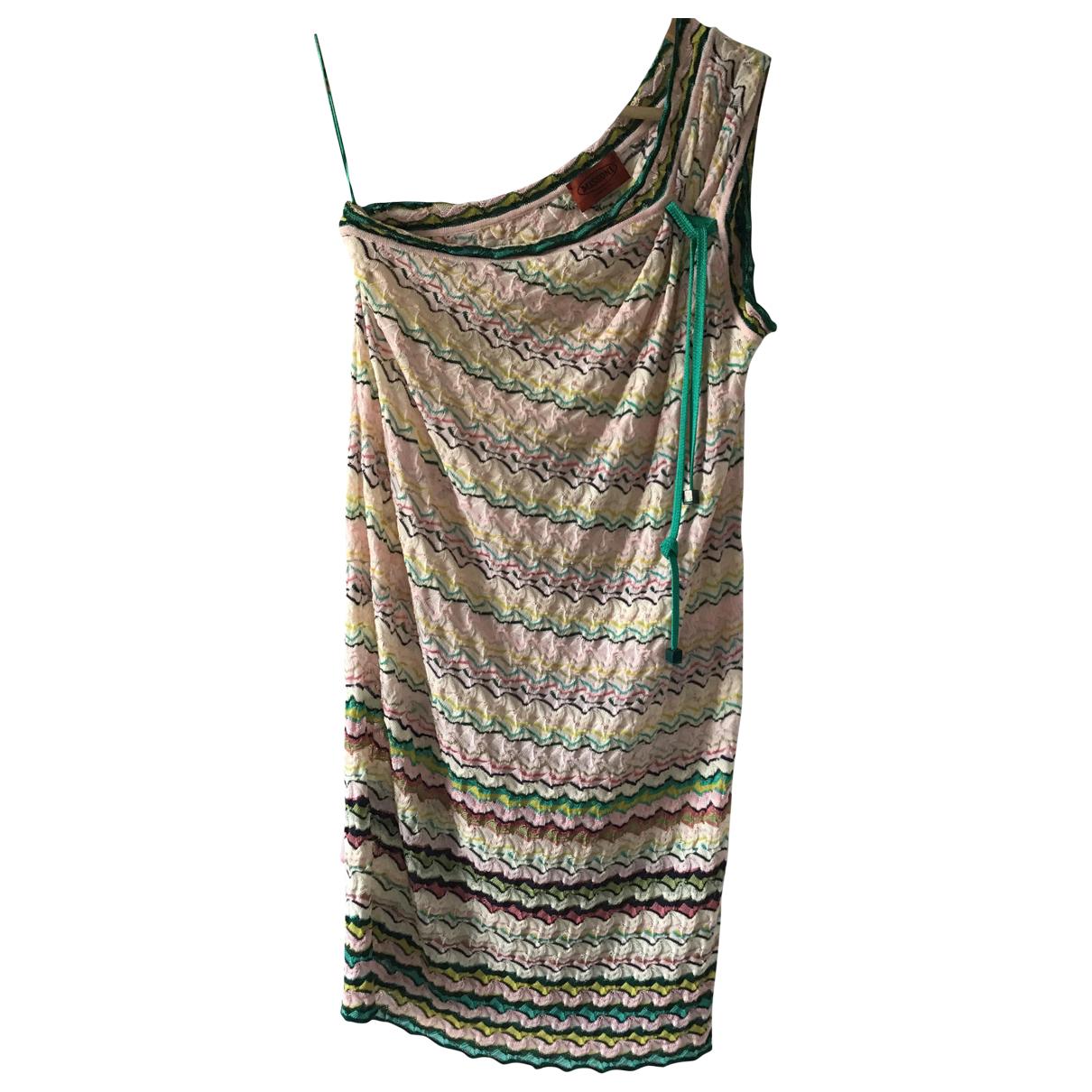 Missoni - Robe   pour femme en coton - elasthane - multicolore