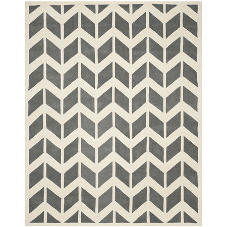 Safavieh Myles Chevron Hand Tufted Wool Rug, One Size , Gray