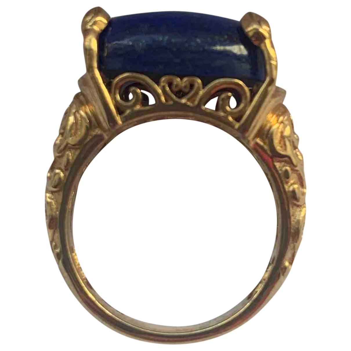 - Bague Lapis lazuli pour femme en plaque or - multicolore