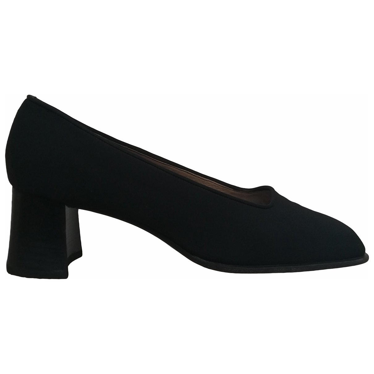 Non Signé / Unsigned \N Black Flats for Women 40 IT