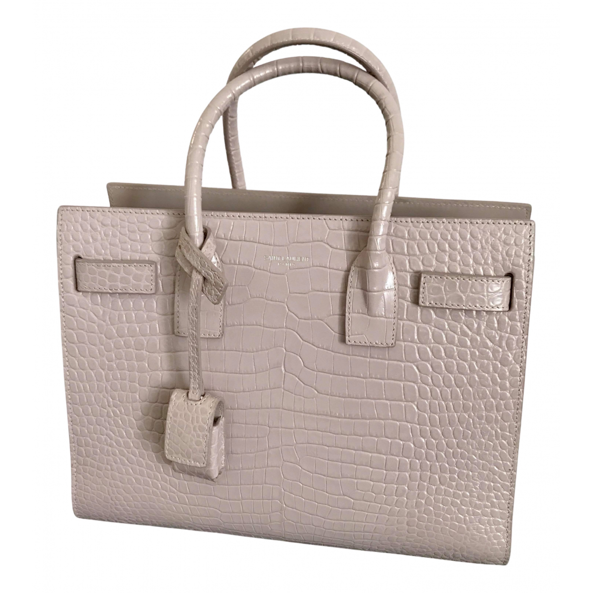 Saint Laurent Sac de Jour Handtasche in  Rosa Leder