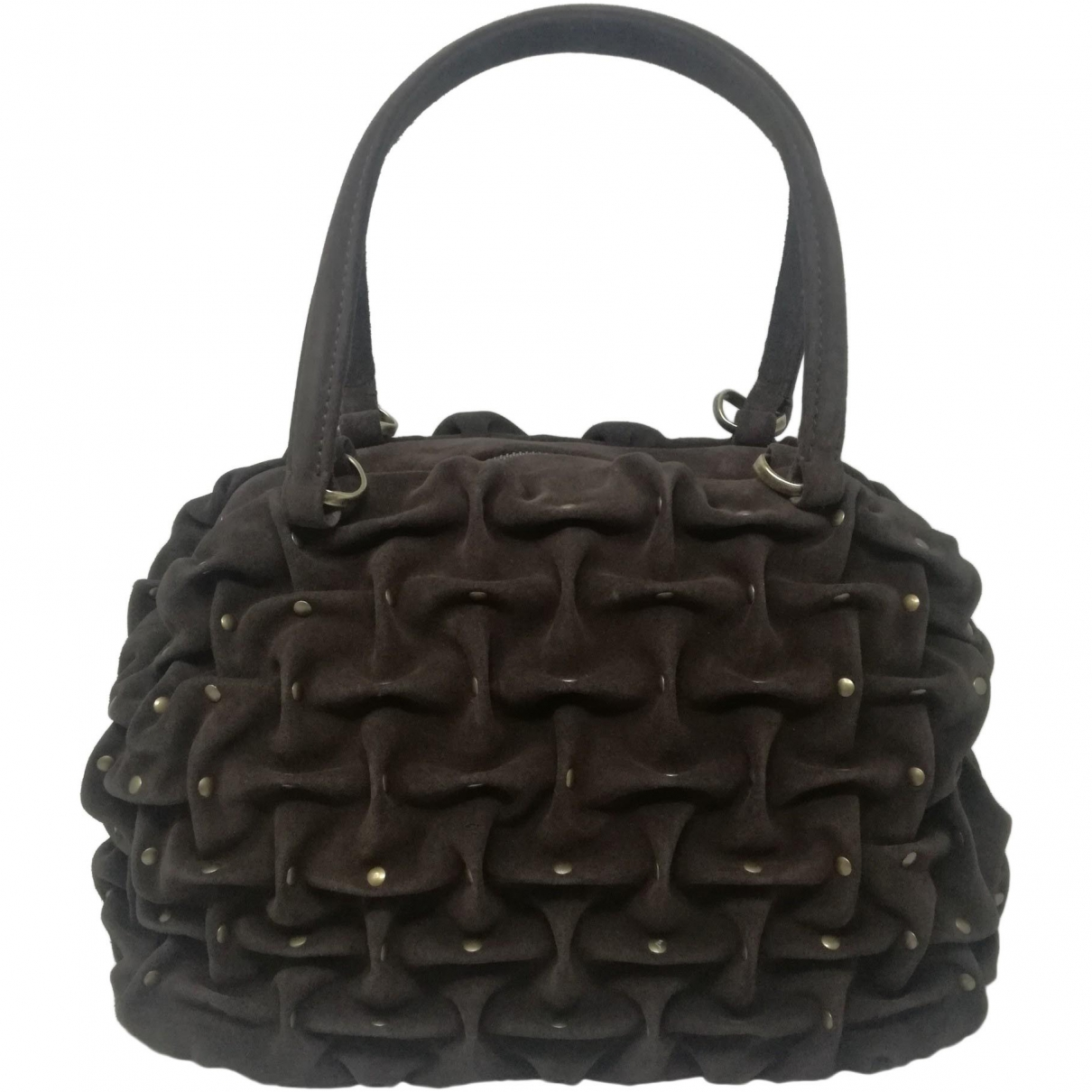 Orciani \N Brown Suede handbag for Women \N