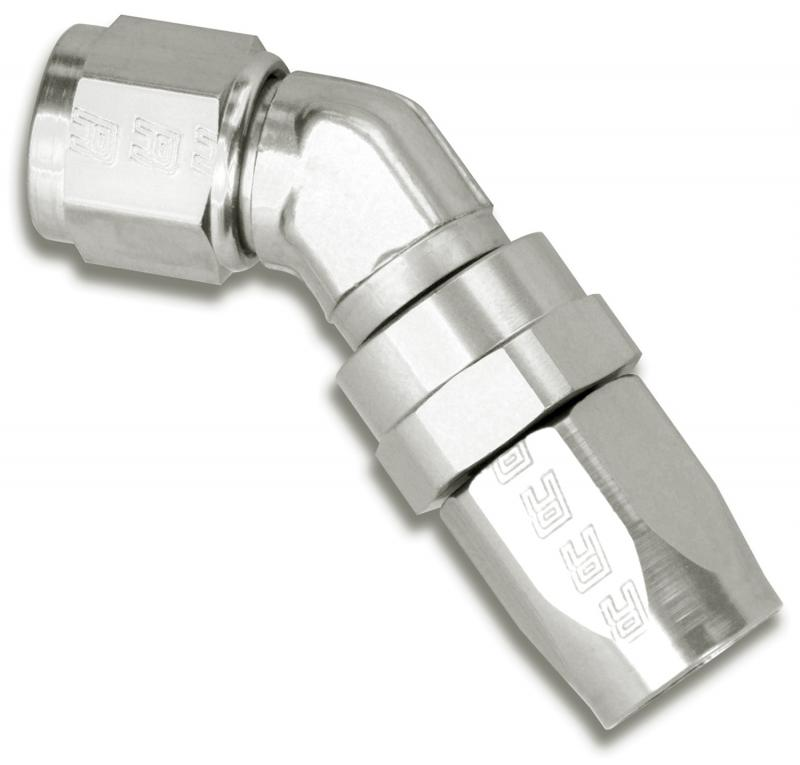 Russell FULL FLOW FORGED SWIVEL HOSE END #10 45 DEGREE ENDURA
