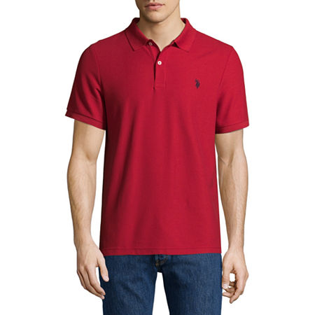 U.S. Polo Assn. Short Sleeve Ultimate Pique Polo Shirt, Large , Red