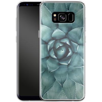 Samsung Galaxy S8 Silikon Handyhuelle - Beautiful Succulent von caseable Designs