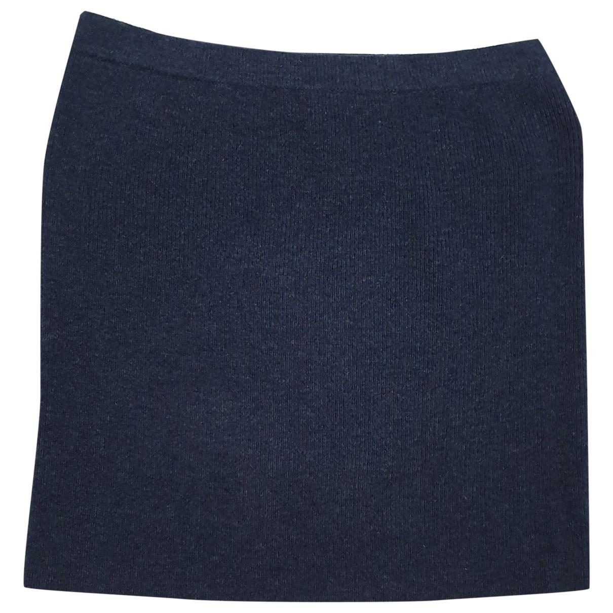 Cathrine Hammel - Jupe   pour femme en laine - bleu