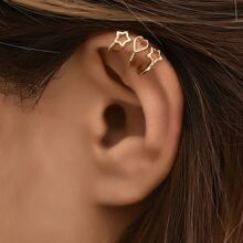 3pcs Star & Heart Design Ear Cuff