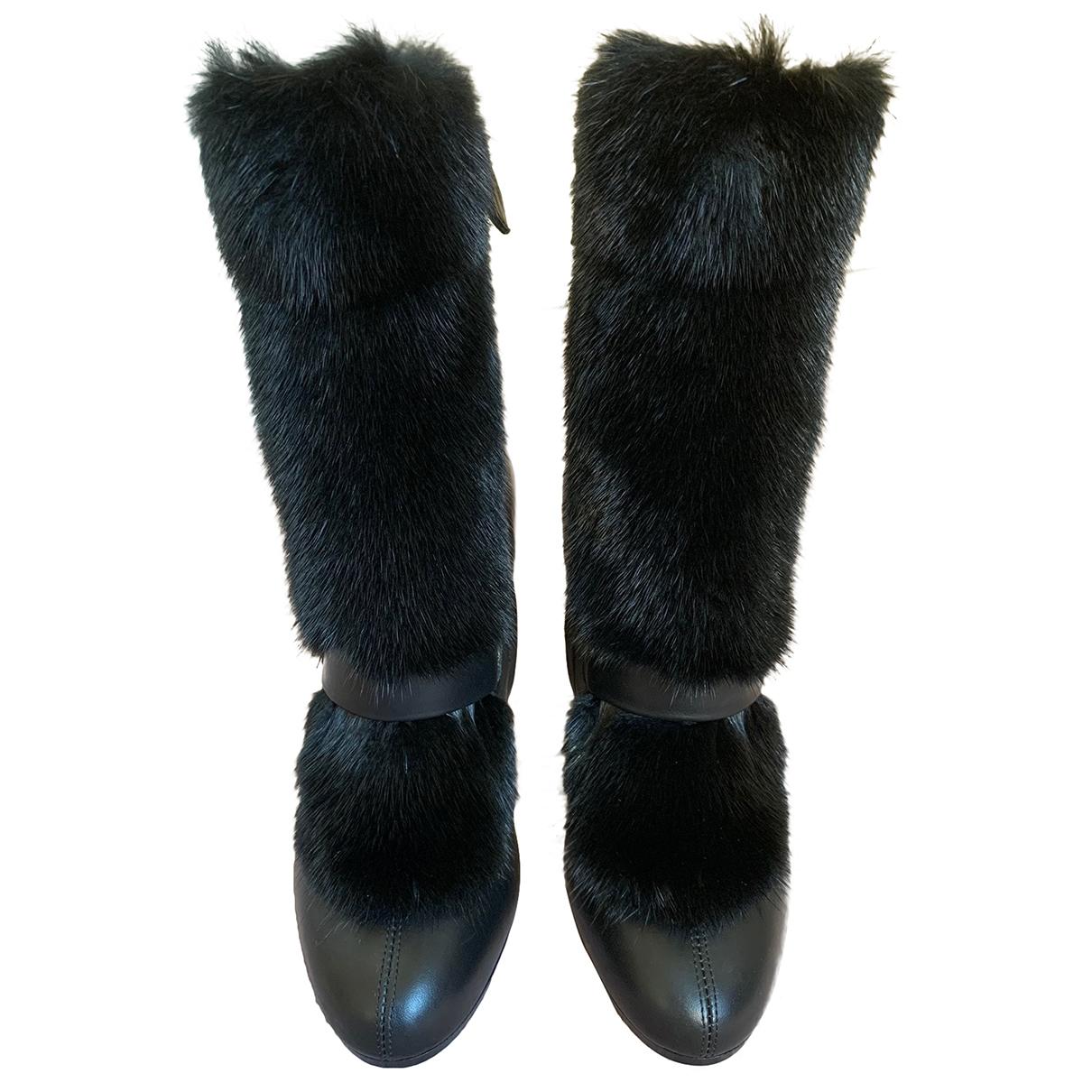 Hermès \N Black Mink Ankle boots for Women 36.5 EU