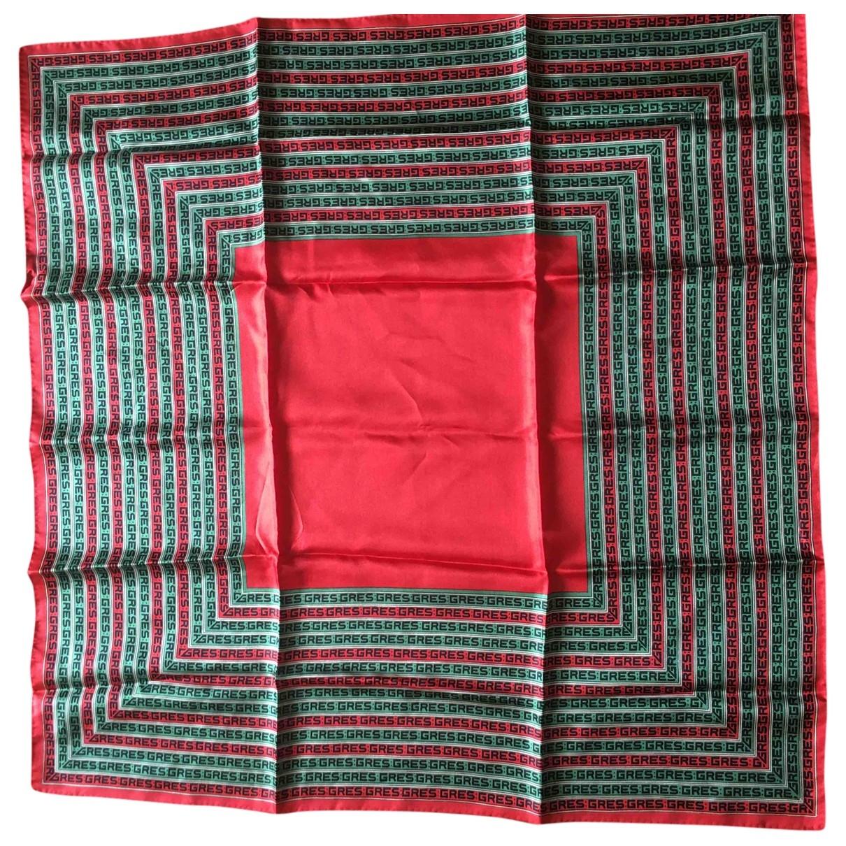 Gres - Foulard   pour femme en soie - rouge