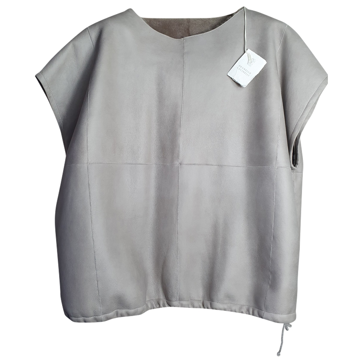 Brunello Cucinelli \N Pullover in  Grau Schaf