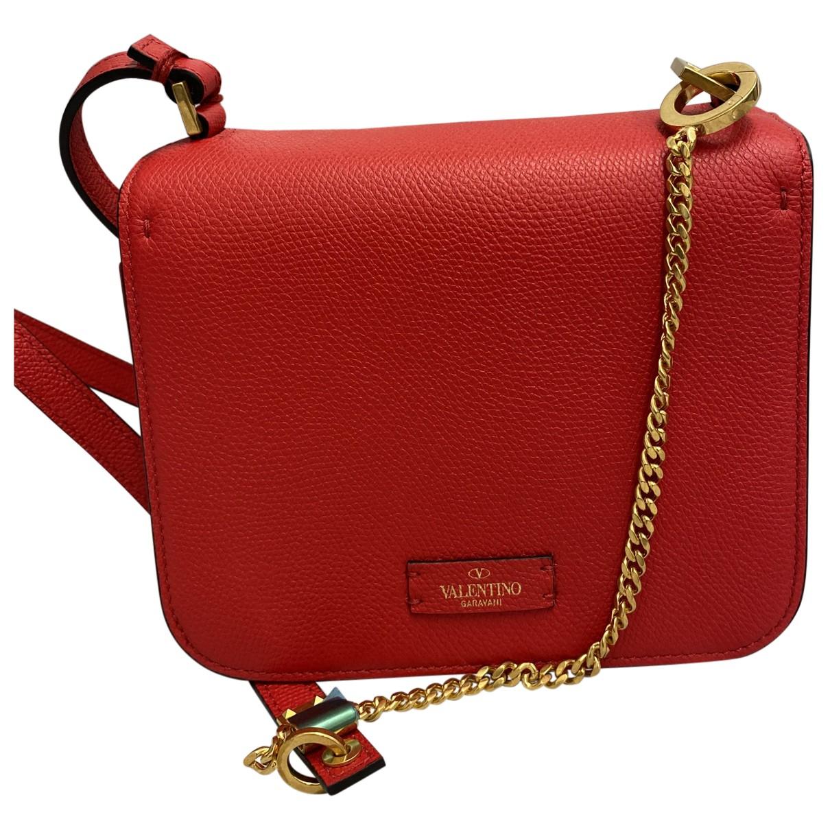Valentino Garavani Vsling Red Leather handbag for Women N