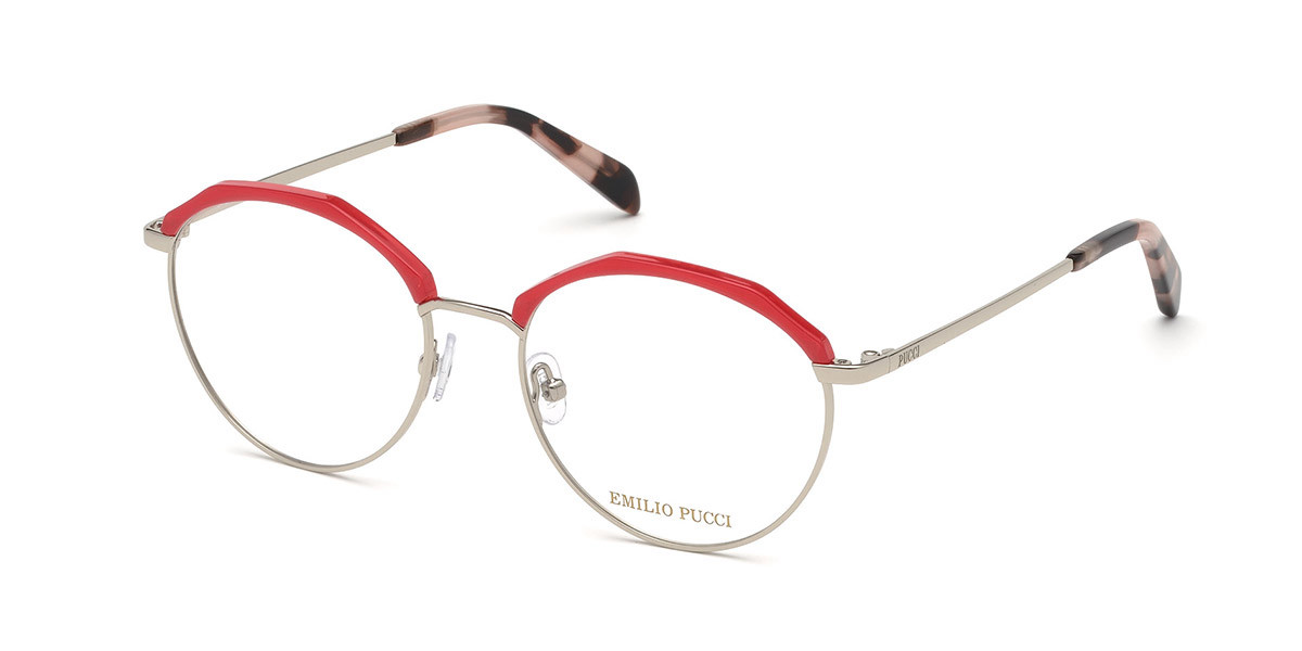 Emilio Pucci EP5103 077 Women's Glasses Red Size 52 - Free Lenses - HSA/FSA Insurance - Blue Light Block Available