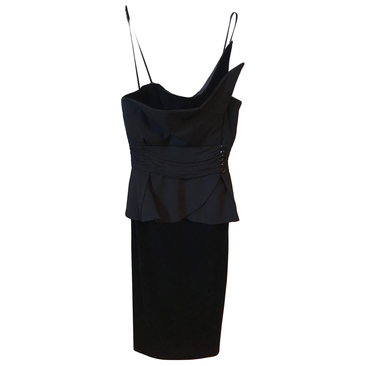 Emporio Armani \N Kleid in  Schwarz Samt