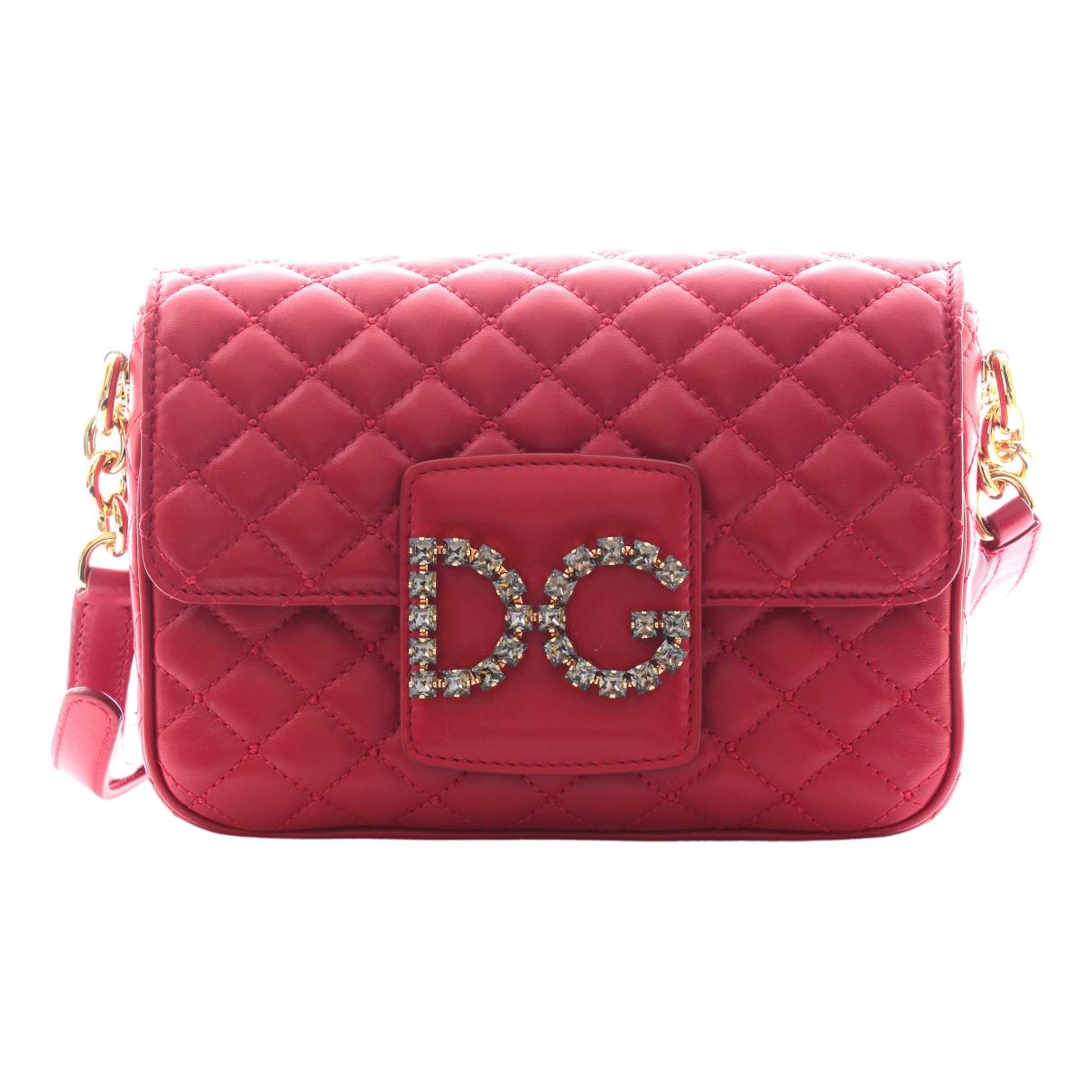 Dolce & Gabbana Millenials Handtasche in  Rot Leder