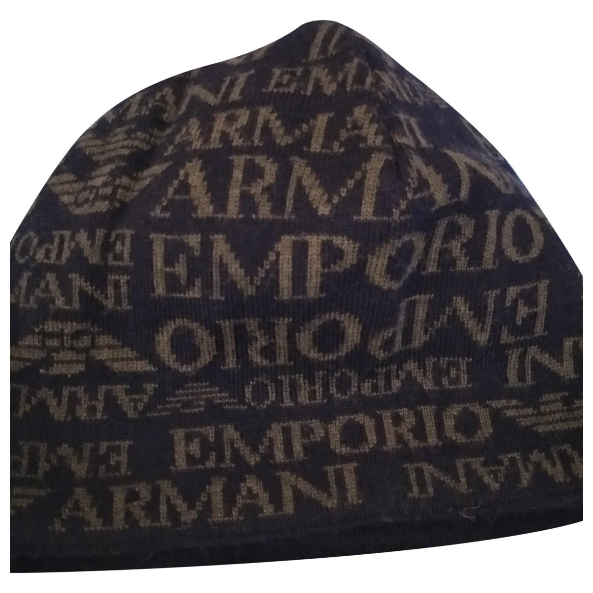 Emporio Armani \N Hut, Muetzen in  Blau Wolle