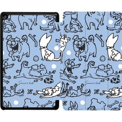 Amazon Fire HD 8 (2018) Tablet Smart Case - Happy Dogs Pattern von Simons Cat