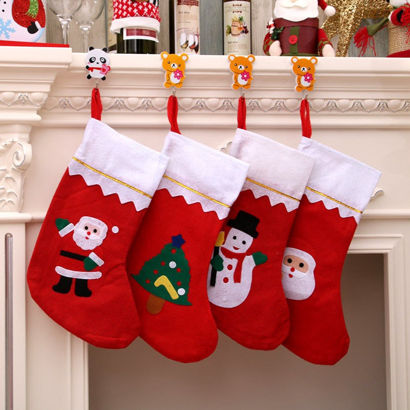Ericdress Christmas Cartoon Cloth Decoration Socks