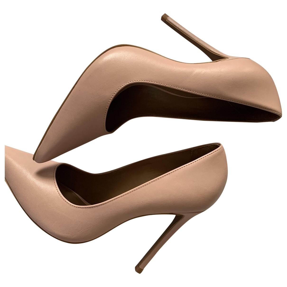 tophop \N Pink Leather Heels for Women 38 EU