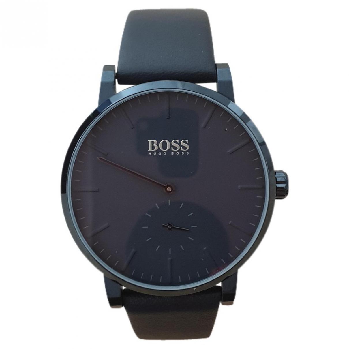 Hugo Boss \N Uhr in  Anthrazit Stahl