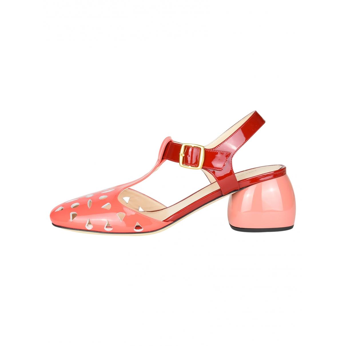 Anya Hindmarch - Sandales   pour femme en cuir - rose