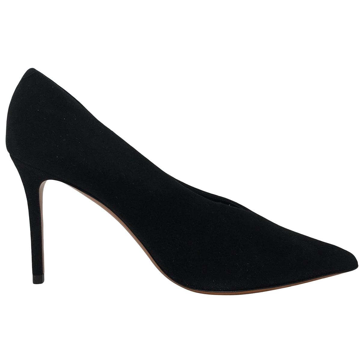Celine \N Black Suede Heels for Women 38 EU