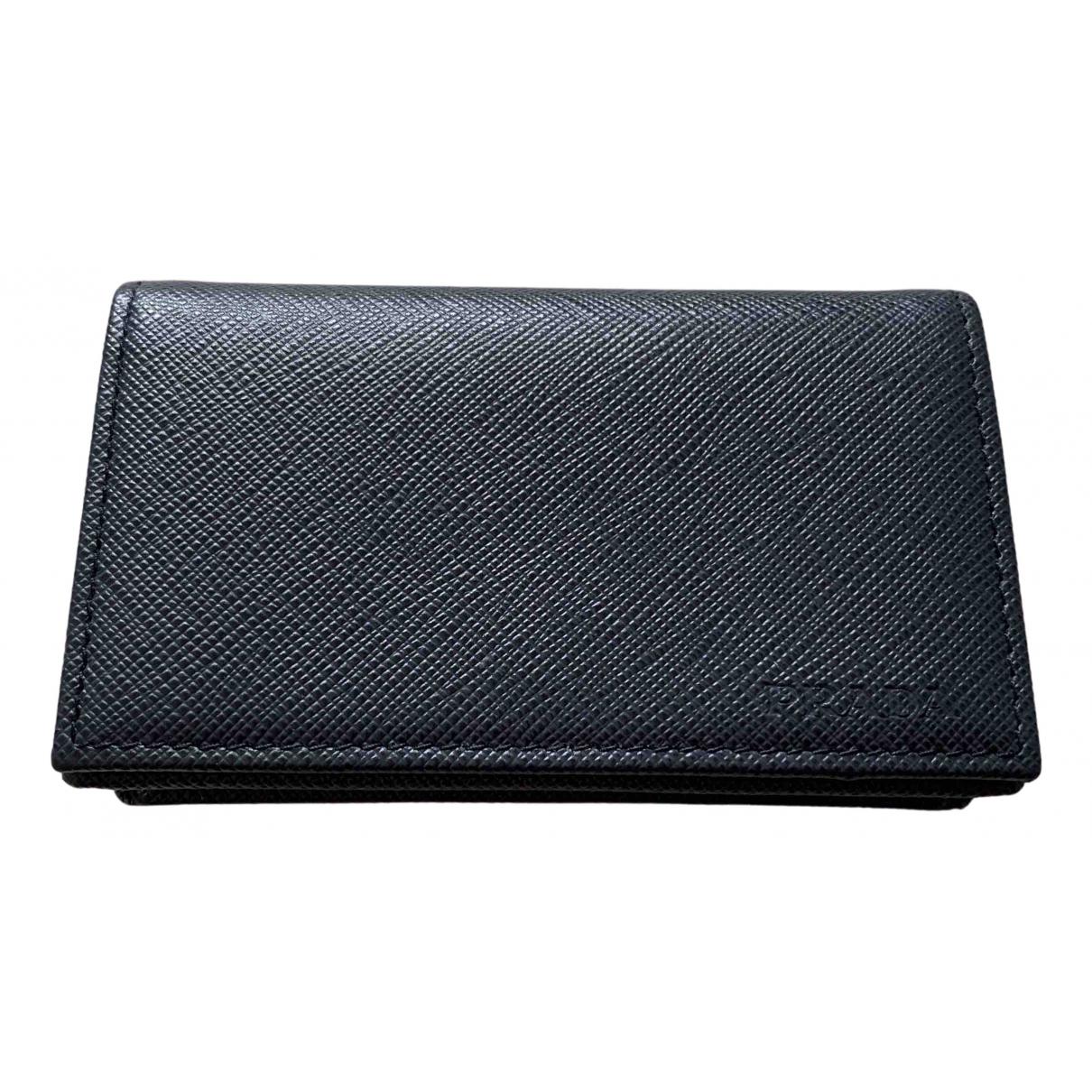 Prada N Navy Leather Small bag, wallet & cases for Men N