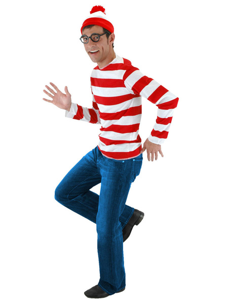 Milanoo Where\'s Wally Halloween Cosplay Costume For Men