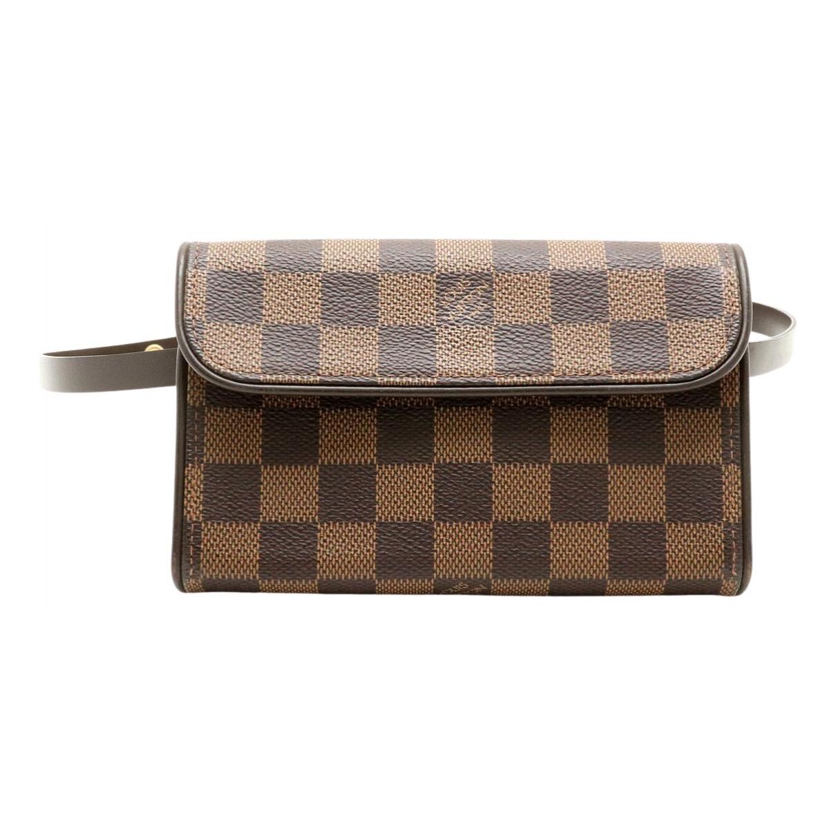 Louis Vuitton Florentine Brown Cloth Clutch bag for Women N
