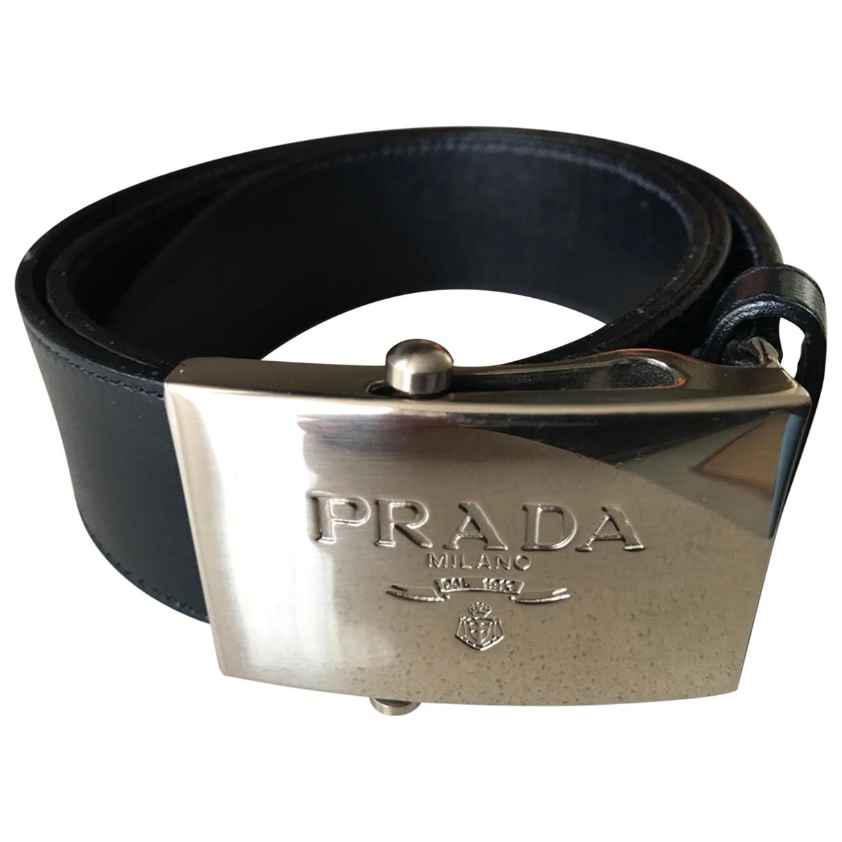 Prada \N Black Leather belt for Women 80 cm