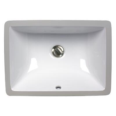 UM-16x11-W 16 Inch X 11 Inch Undermount Ceramic Sink in