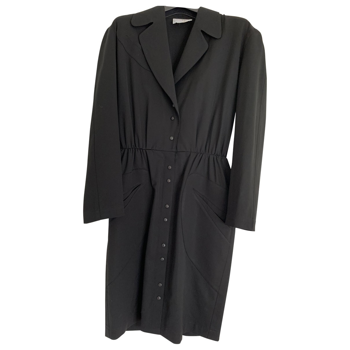 Thierry Mugler \N Black Wool dress for Women 38 FR