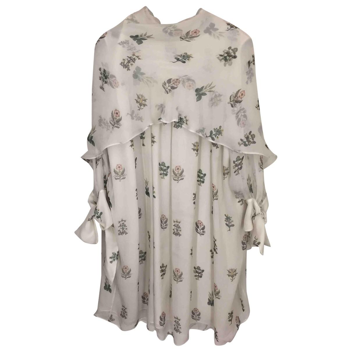 Alexander Mcqueen - Robe   pour femme en soie - blanc
