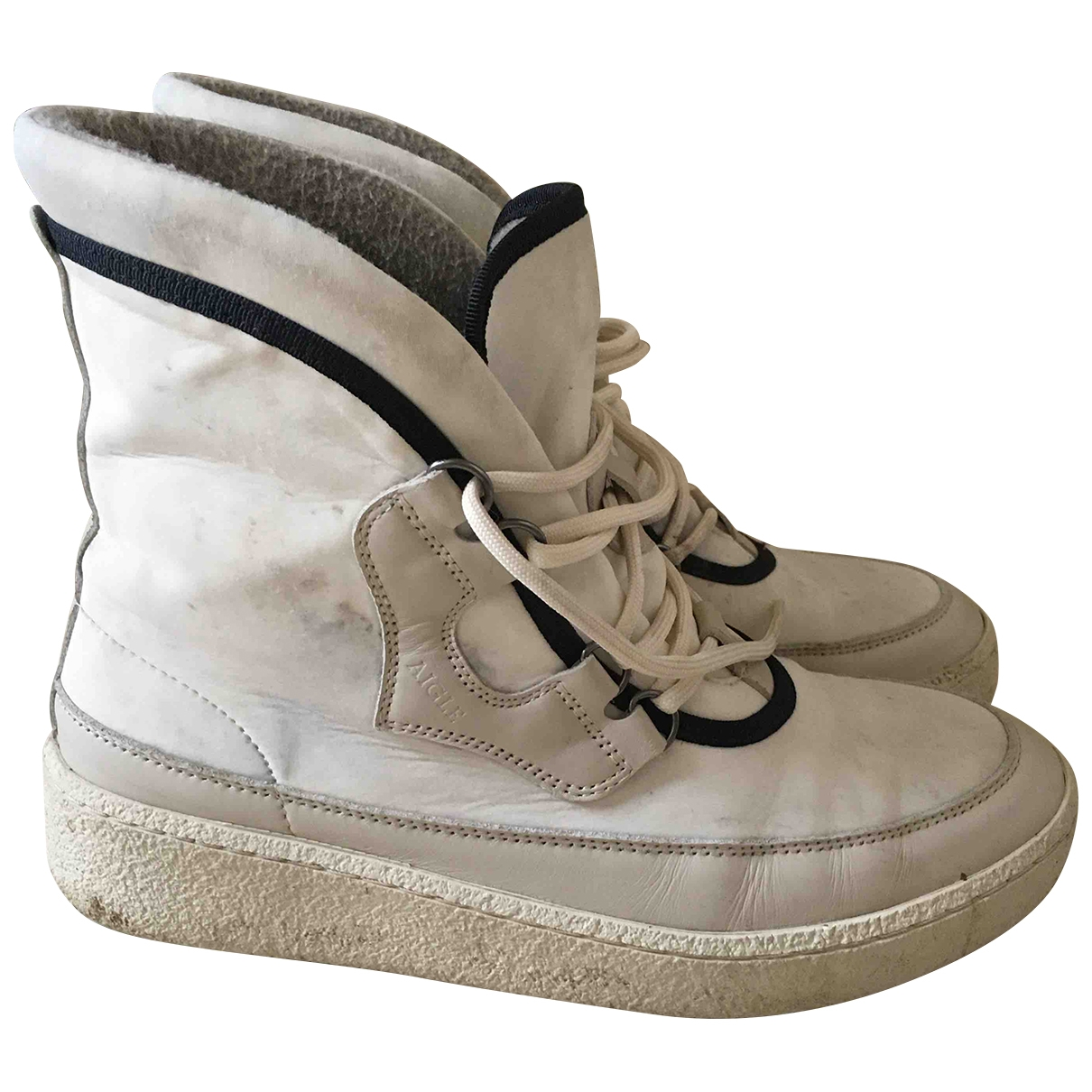 Aigle \N White Ankle boots for Women 40 EU