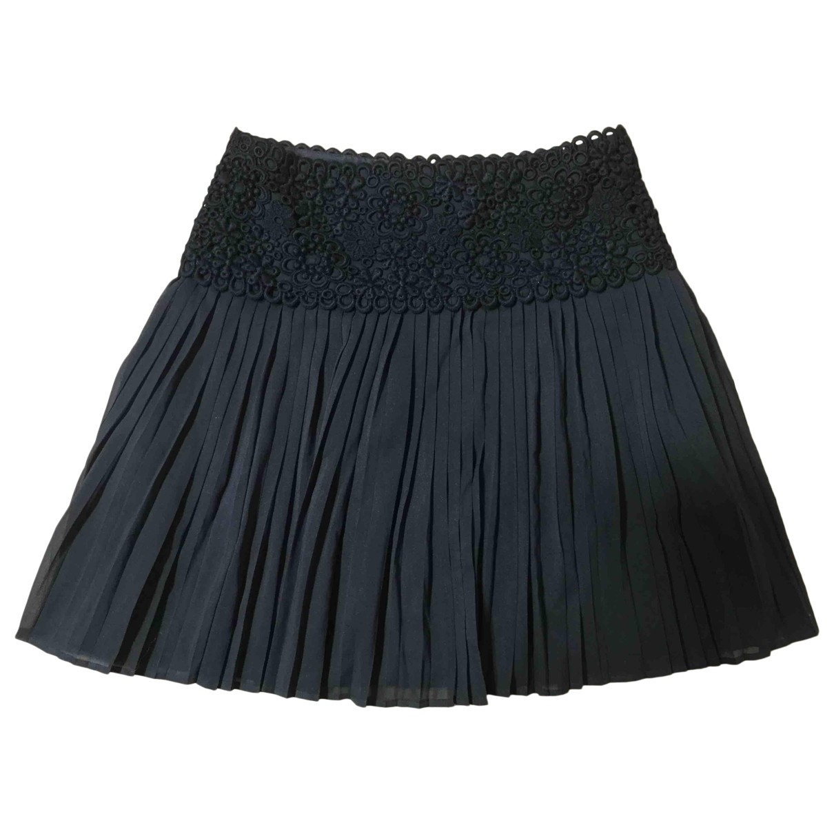 Red Valentino Garavani \N Black Silk skirt for Women 38 IT